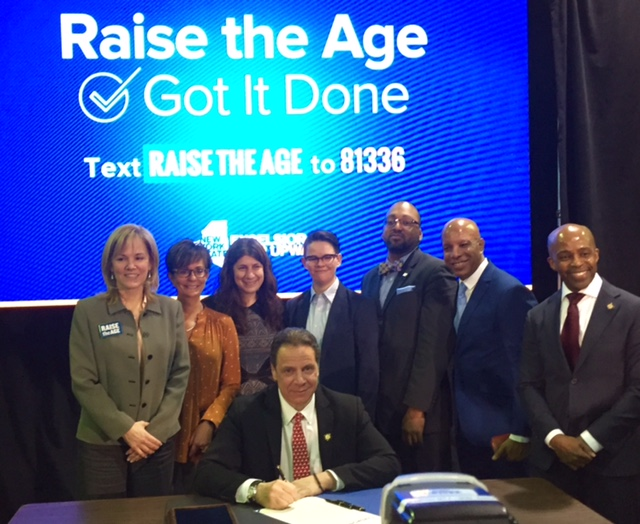 Paige Pierce and others with Governor Andrew Cuomo