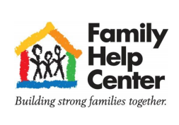 family help center_ building stronger families together_ rainbow house with three people standing inside it