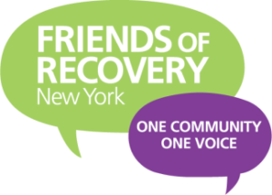 FOR-NY Friends of Recovery New York_ One Voice_ One Community logo.