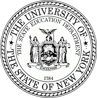 Black and white - NYSED Seal. The university of NYS_ the state education department.