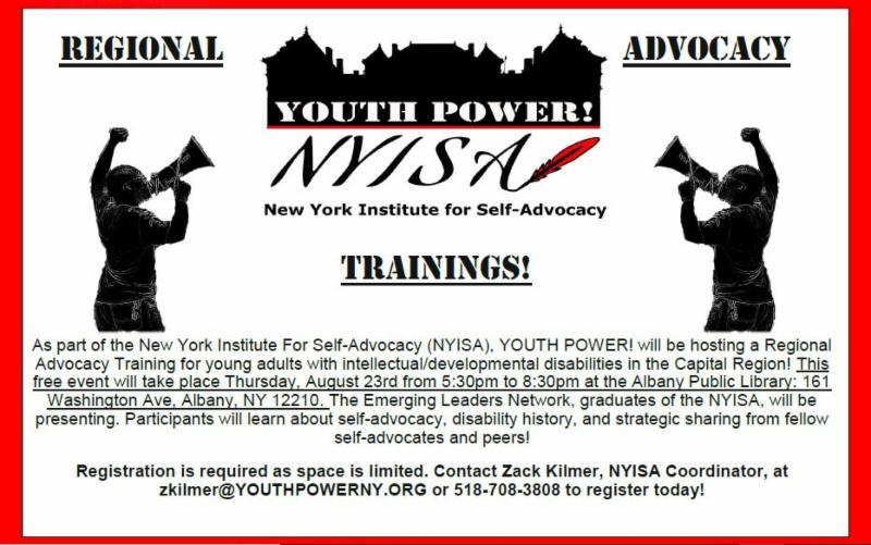 Regional Advocacy Training flyer