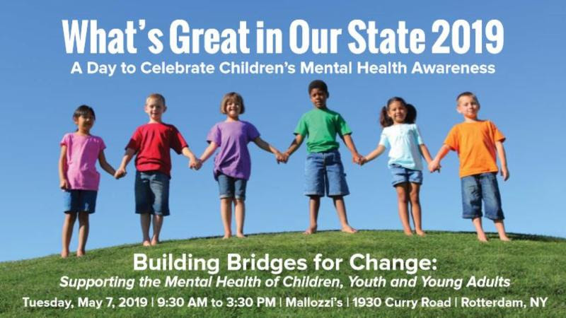 Whats Great in Our State 2019 logo Building Bridges for Change Supporting the Mental Health of Children_ Youth and Young adults