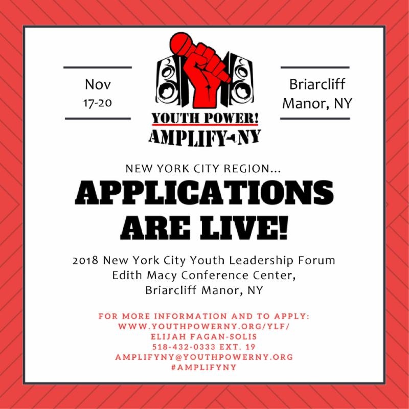 New York City Applications are live_ Image shows the date in the top left corner_ November 17-20. The location is in the top right corner_ Briarcliff Manor_ NY. _Applications are live__ is centered on the image. Underneath the centered text states the location. Underneath the location states the link for more information and also who to contact.
