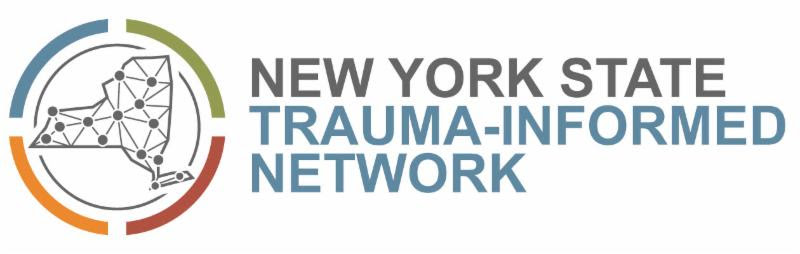 nyc trauma informed network logo with nys to the left of text with connecting dots in the state