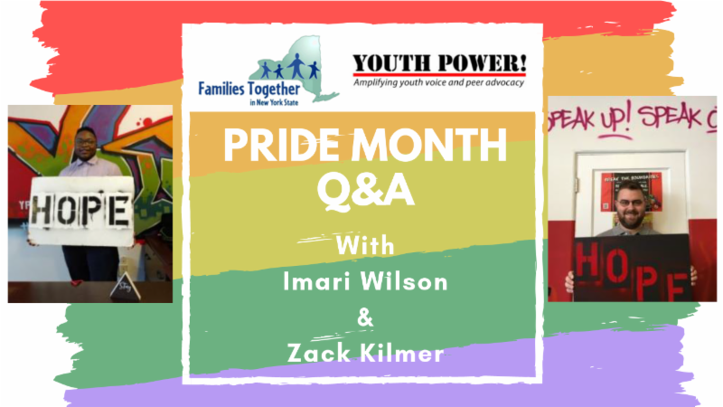 lgbtq pride month rainbow behind pride month q_a with imari wilson and zack kilmer