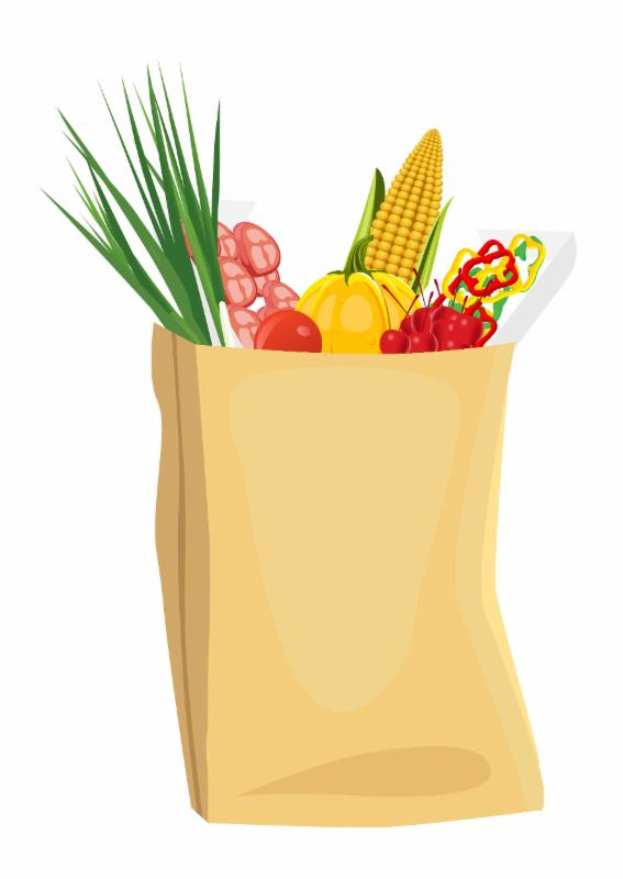 grocery bag with corn