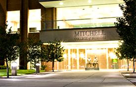Mitchell Center at night