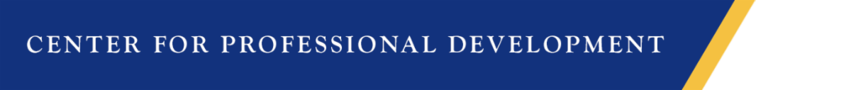 Center for Professional Development banner