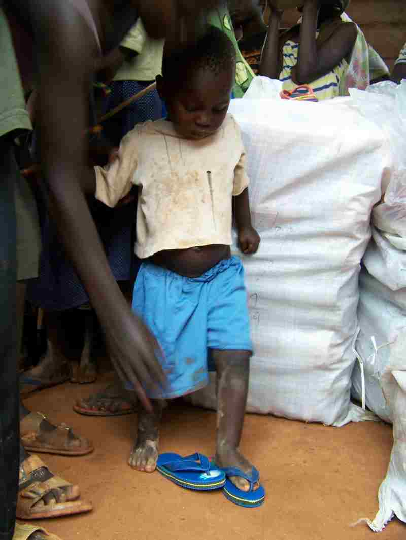 Little Kid with new Shoes