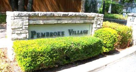 The Pembroke Village neighborhood sign