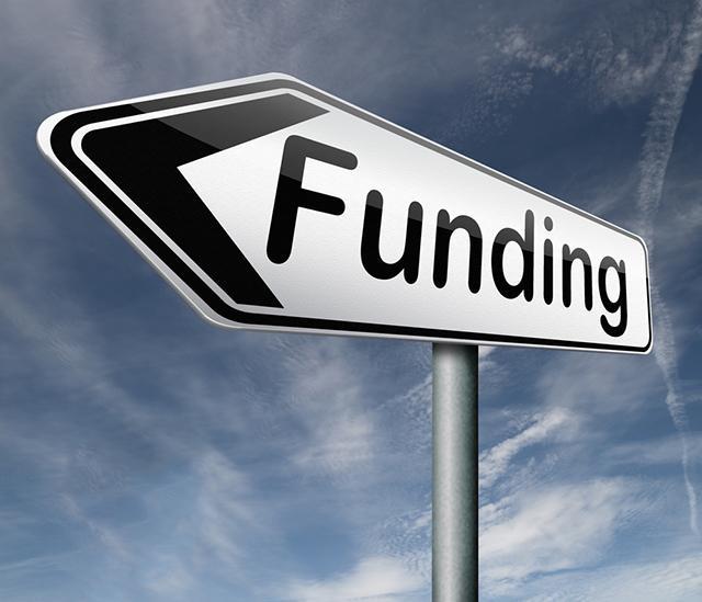 Sign saying Funding