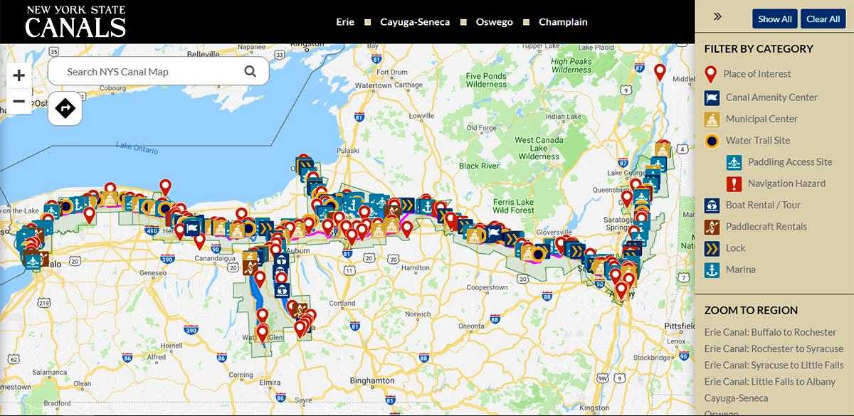 State Introduces Online Canal Map | Finger Lakes Daily News
