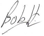 Bob Hobbi Signature
