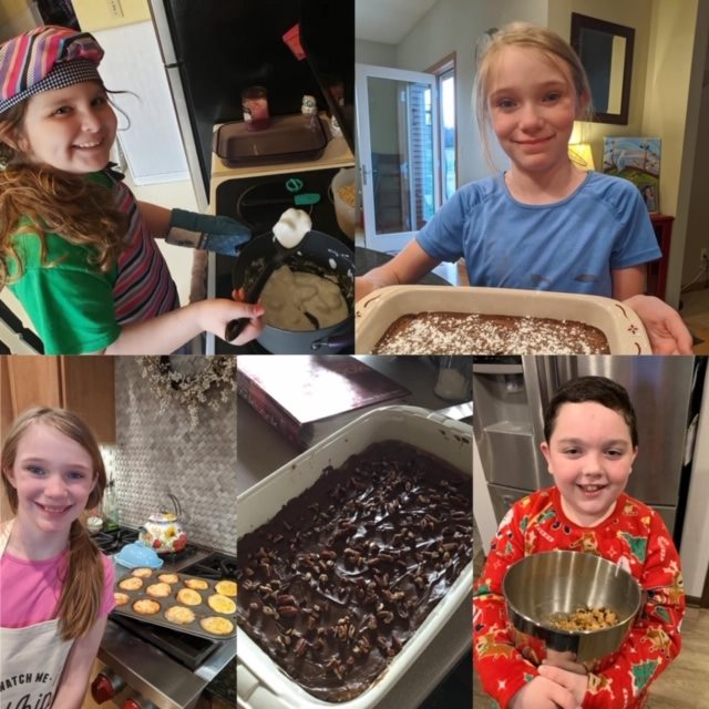 Lincoln STEM students baking on Tasty Tuesday