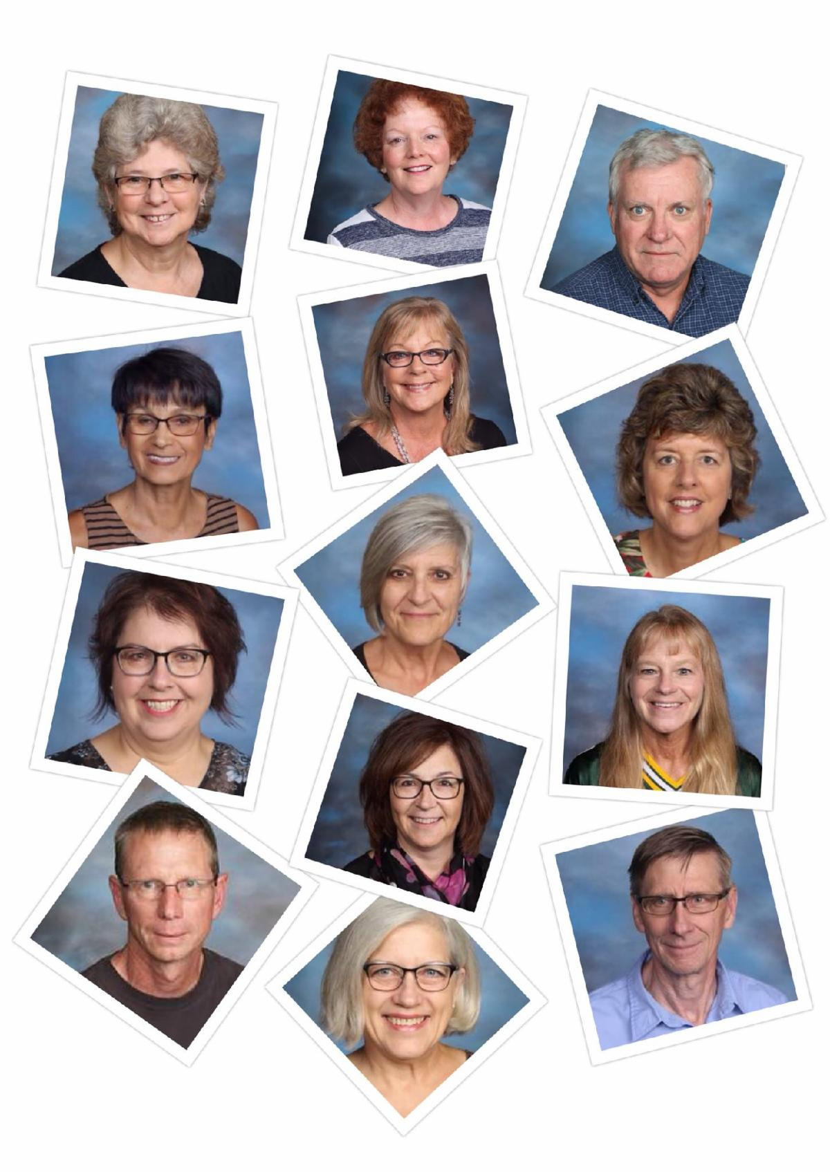Collage of 2020 WUSD Staff Retirees