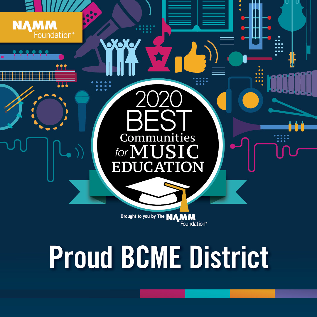 2020 Best Communities for Music Education - Proud BCME District