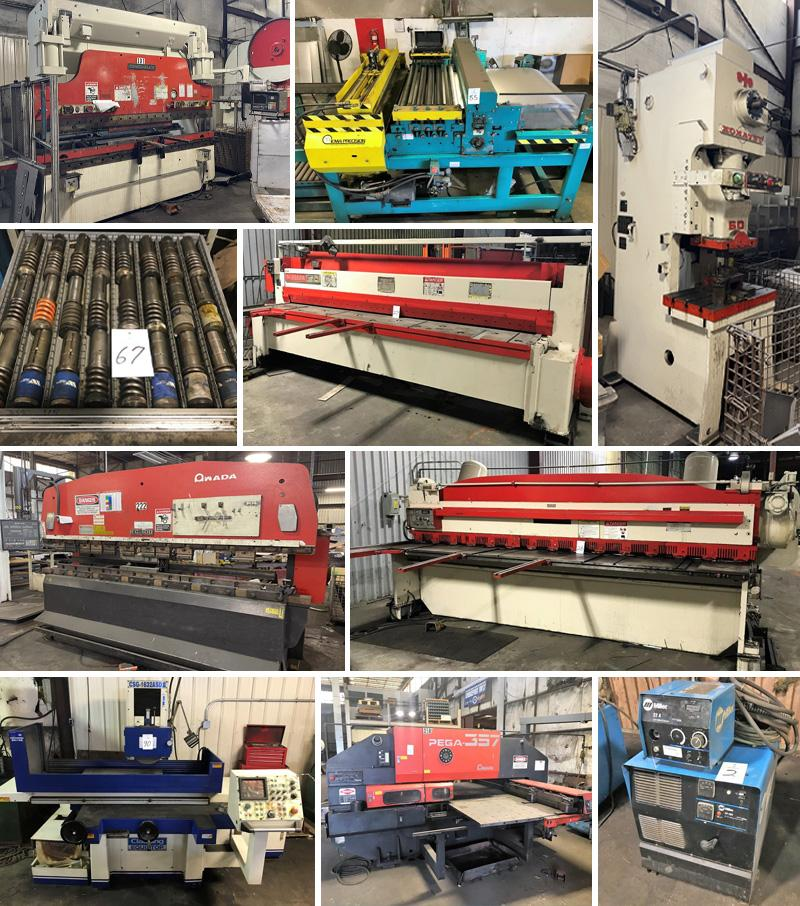 Slear Line, Press Brakes, Presses, CNC Turret Punches, Welders and More