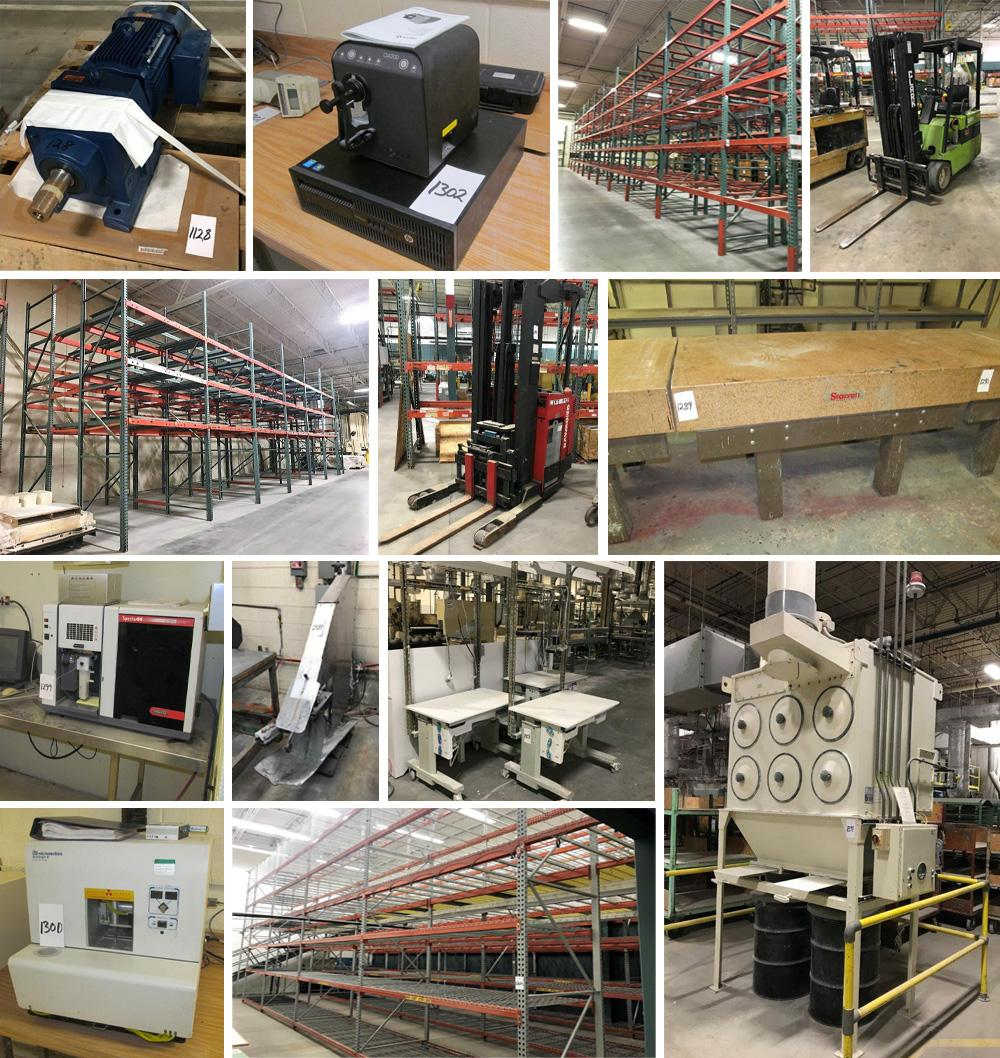 Forklifts, Material Handling, Pallet Racking, Lab Equipment, Dust Collectors, Packaging, Motors, Spare Parts and More