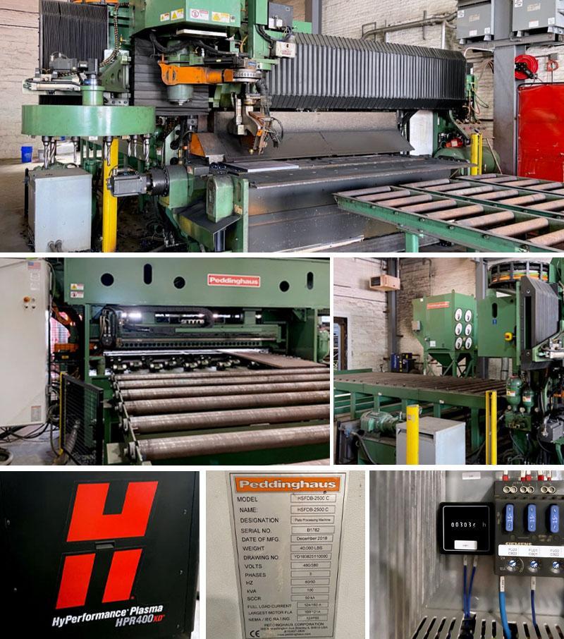 2018 Peddinghaus HSFDB-2500C CNC Plate Processing Machine