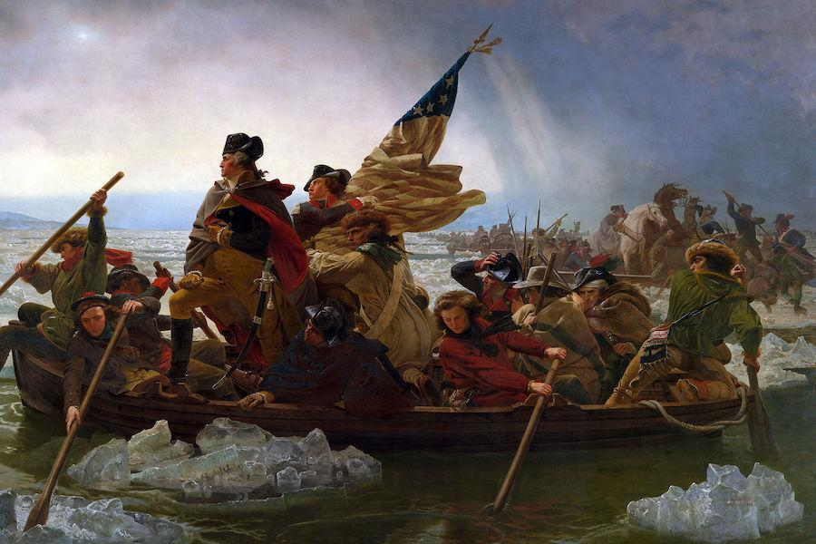 Painting of George Washington crossing the Delaware