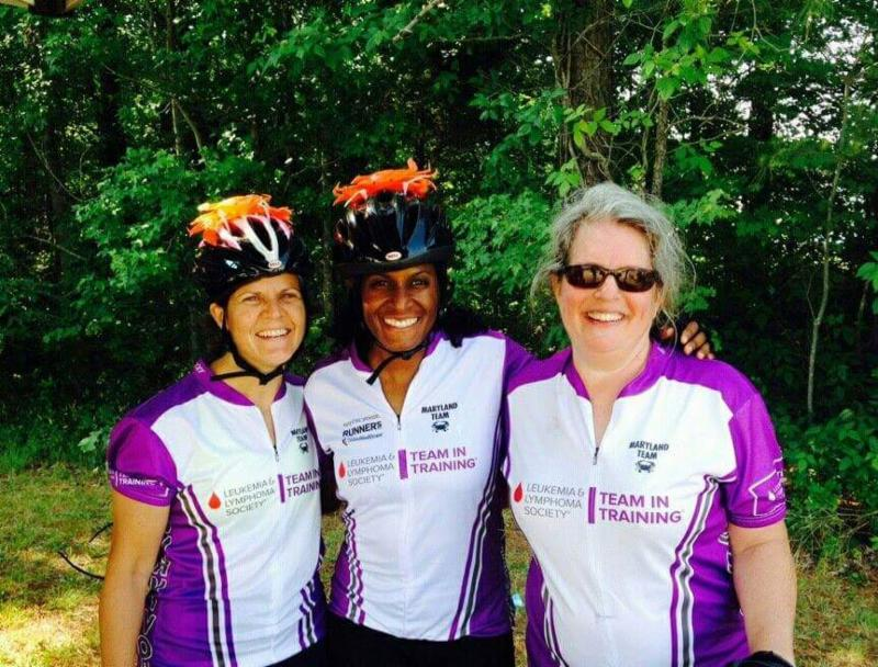 Denise, O, and Joan training for LLS Century