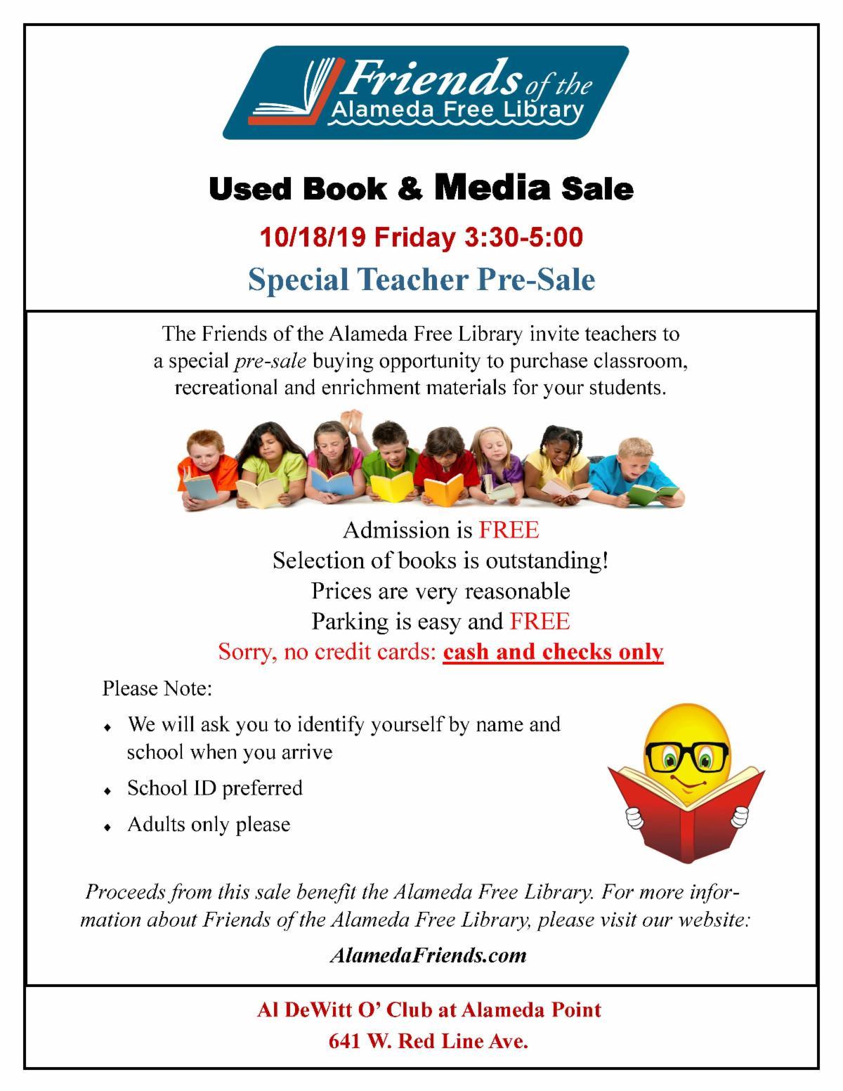 book sale flyer