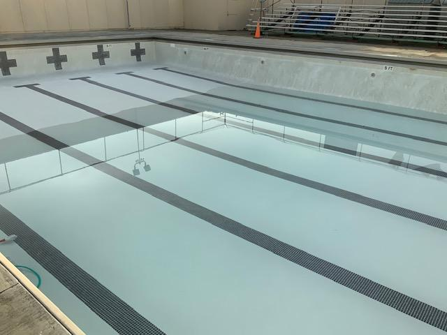 emma hood pool being filled with water