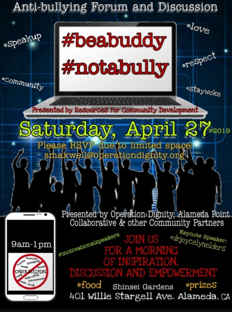 flyer for anti-bullying forum