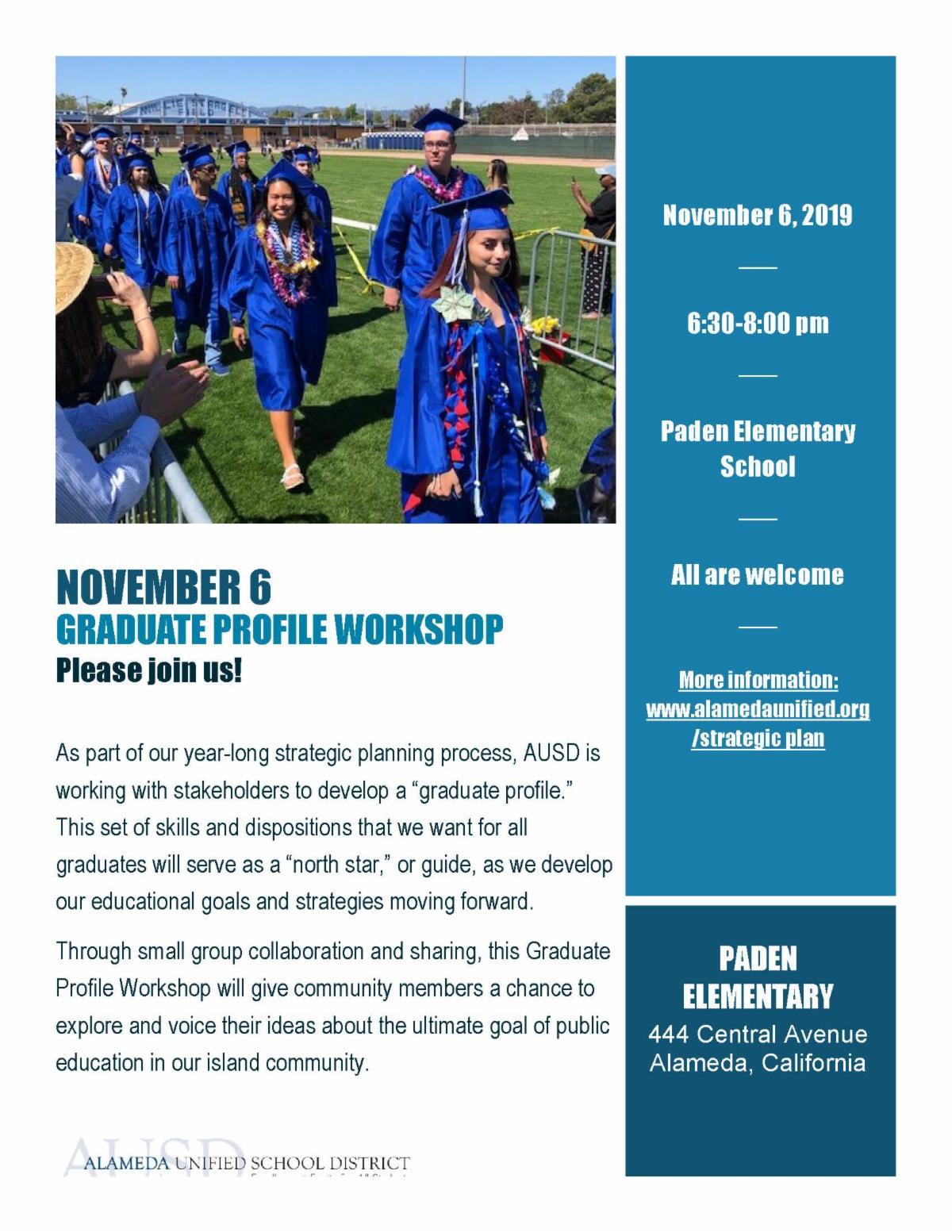 flyer for graduate profile workshop