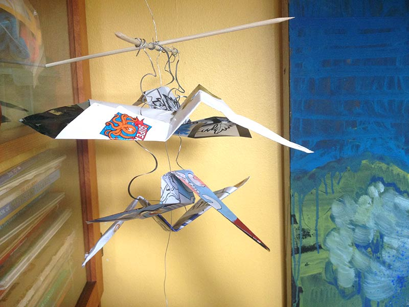 Image of hanging origami