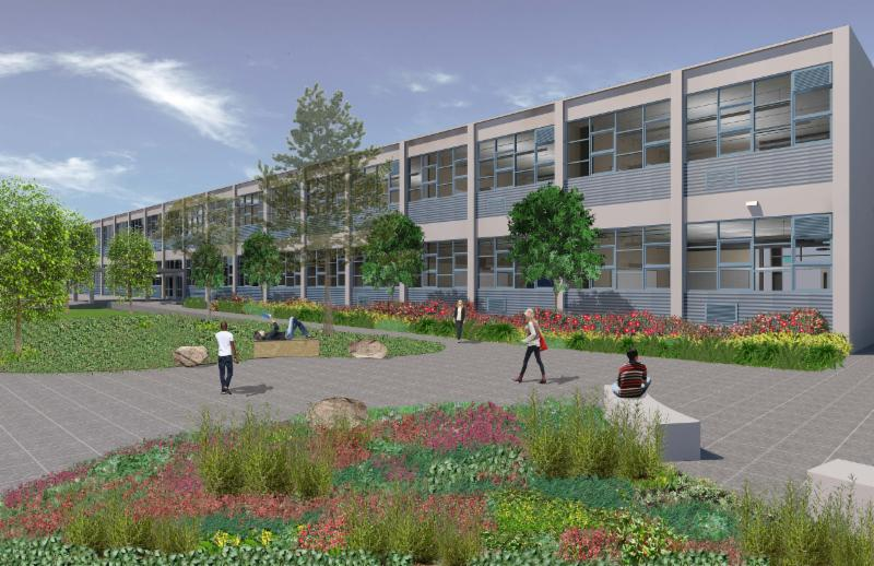 schematic of new EHS building