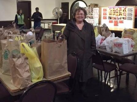 Thanksgiving groceries from Temple Sinai Summit