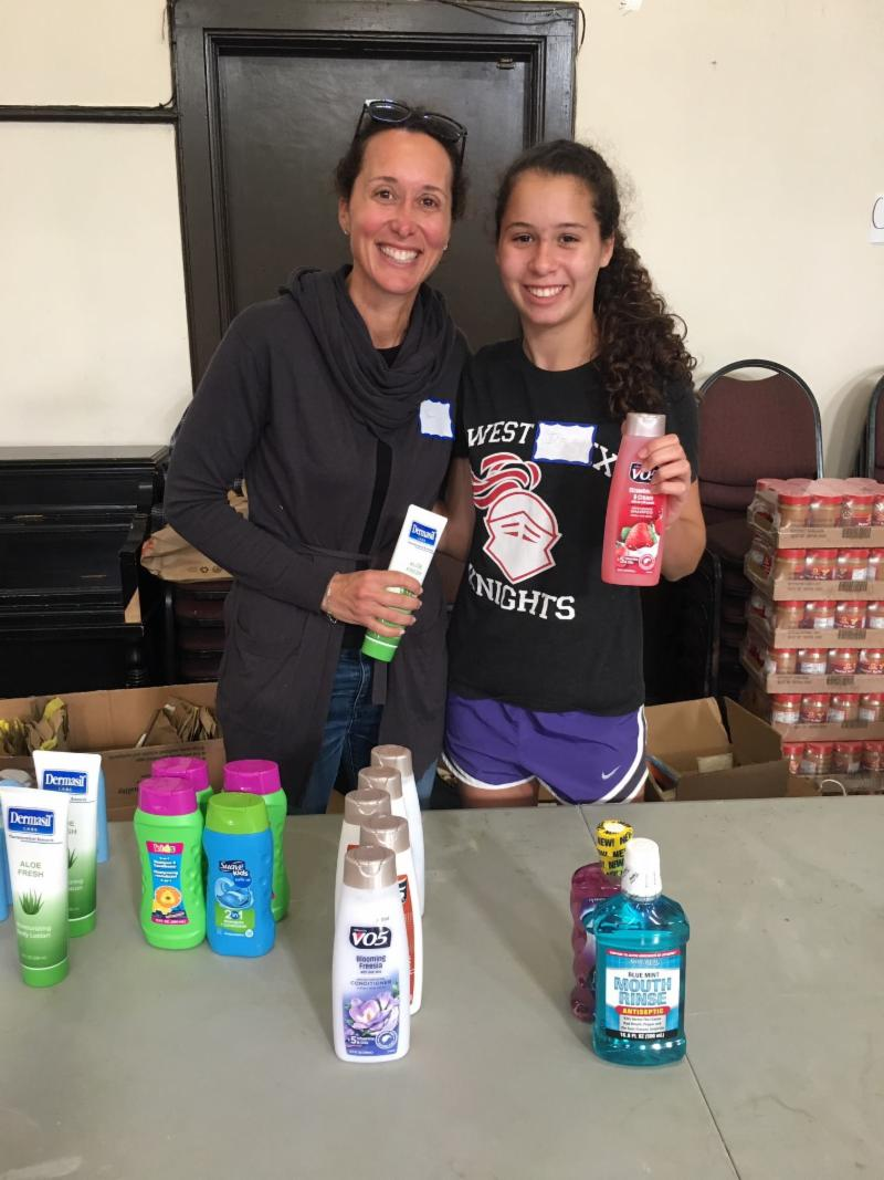 Ivie Drogin distributes toiletries