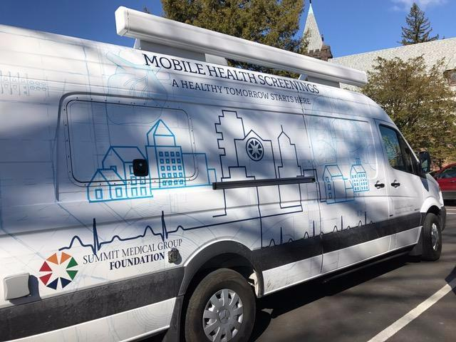 SMG Foundation's new mobile van.