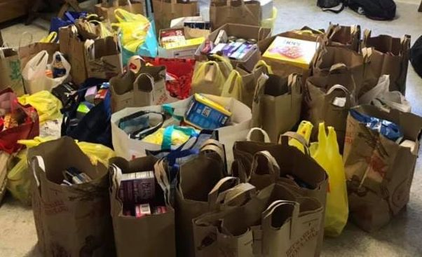 Food collected by Diller Teen Fellows