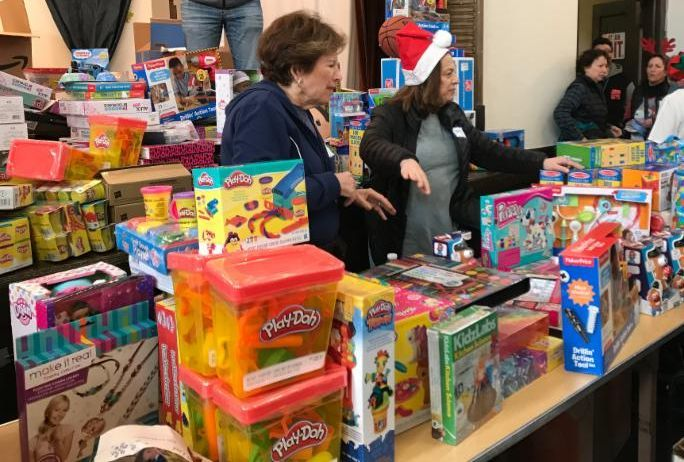 Getting ready to bring clients in for toys