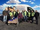 Maplecrest Moves Charities van with Investors Bank volunteers