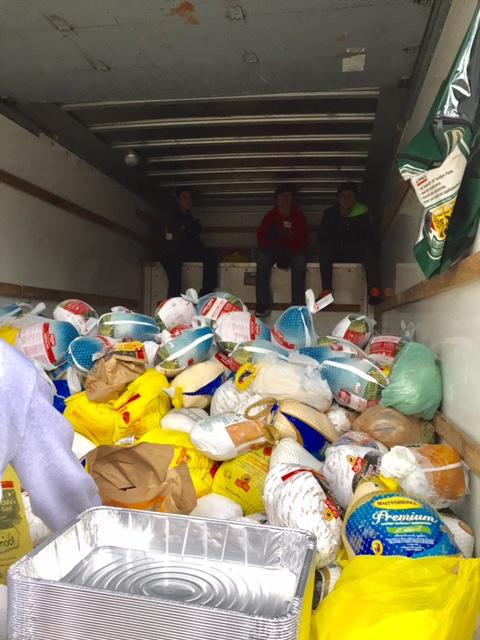 Turkeys in the truck