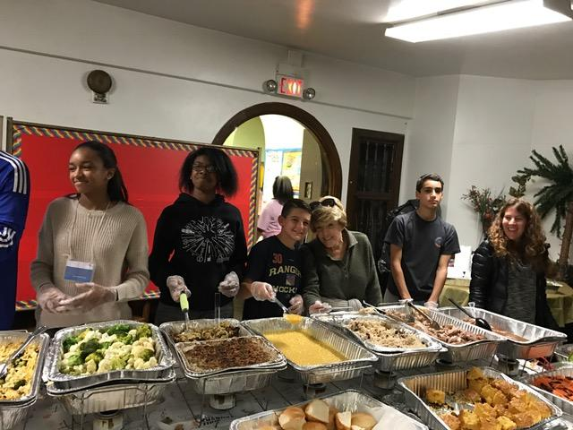 Thanksgiving lunch at Church