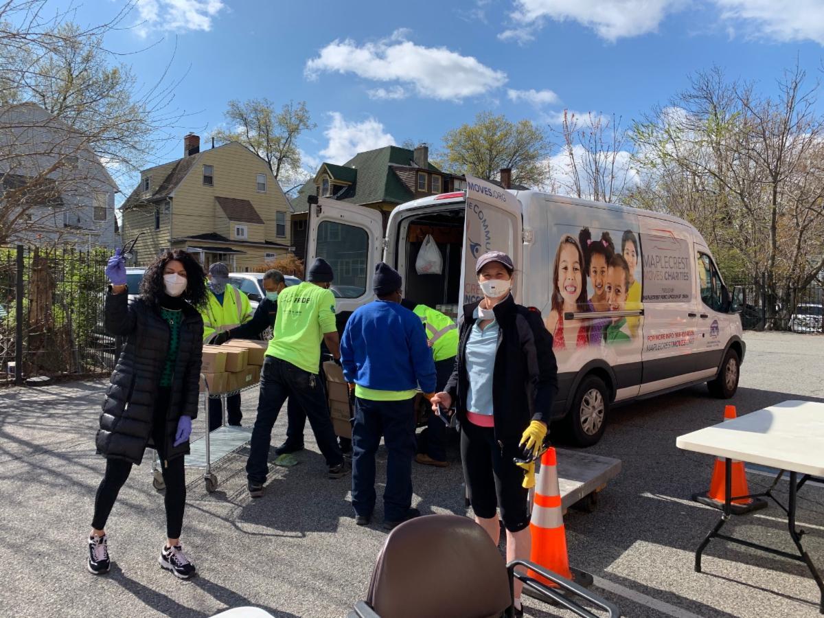 loading the Maplecrest van