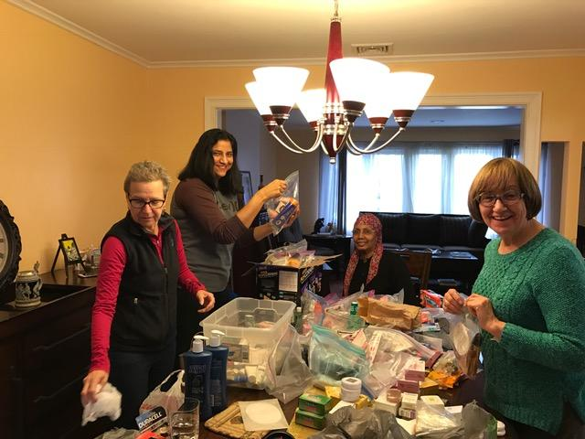 On Feb 15, the Sisterhood of Salaam Shalom distributed toiletry bags made for IFPO