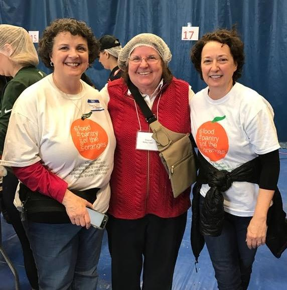 Peggy Baggaley, Sharon Tobin-Reilly of MEND, and Diane Stein at End Hunger