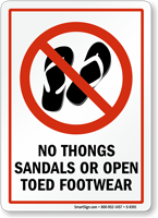 no open toed shoes