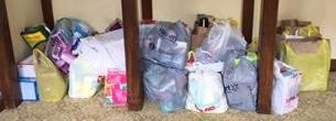 PEO collection of feminine hygiene products