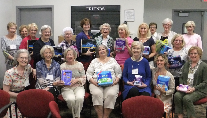 PEO collects feminine supplies