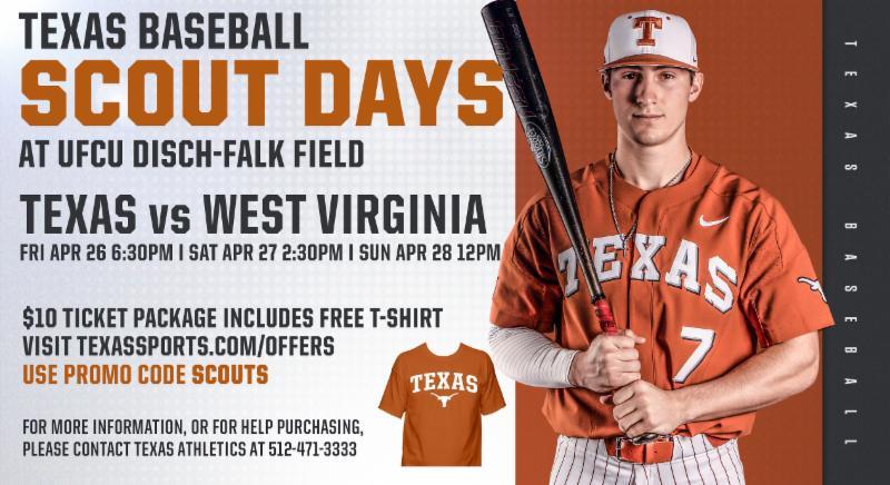 TX Baseball - Scout Days @ UFCU DISCH-FALK FIELD