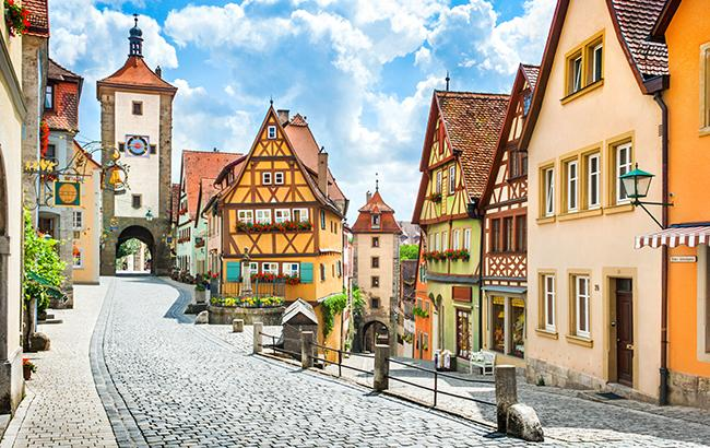Cobble stone street in Germany