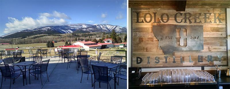 Lolo Creek Distillery tasting room and patio in Lolo Creek_ Montana