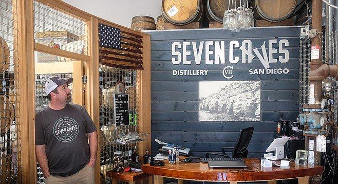Geoff Longenecker of Seven Caves Distillery in San Diego_ CA