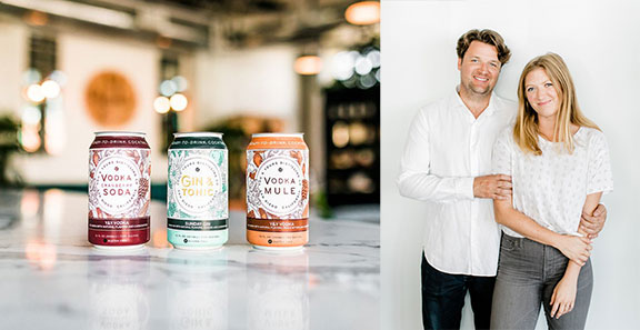 You _ Yours canned cocktails_ Luke Mahoney and Laura Johnson_ founders